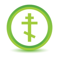 Green orthodoxy icon vector