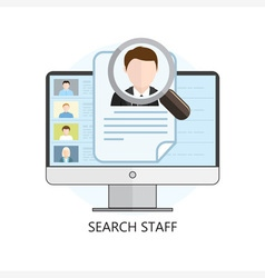 Search staff icon computer vector