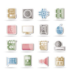 Computer performance icons vector