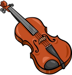 Violin cartoon clip art vector