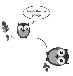 Owl diet going vector