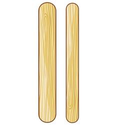Wooden ice cream sticks vector