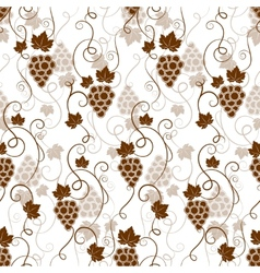 Seamless background pattern of grapes vector