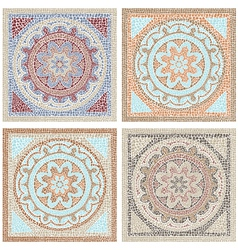 Antique mosaic vector