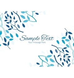 Blue forest horizontal double corners frame vector