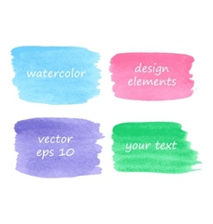 Collection of watercolor stains vector