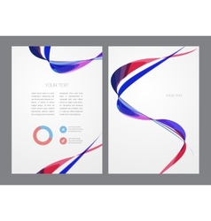 Abstract modern bright multicolored flyer vector