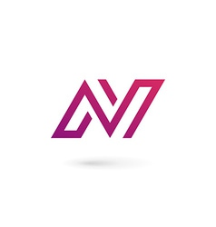 Letter n logo icon design template elements vector