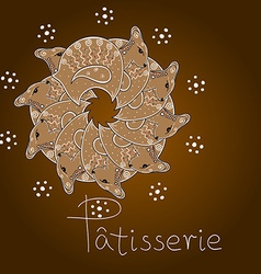 Gingerbread lambs vector