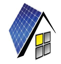 Solar panels vector