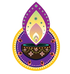Diwali candle light vector