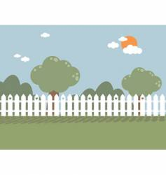 Picket fence vector