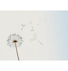Dandelion in the wind vector