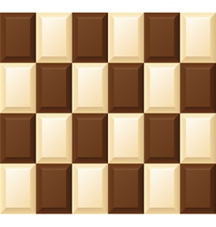 Black and white chocolate bar vector