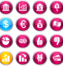 Money round icons vector