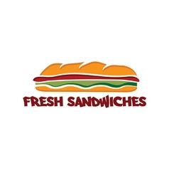 Sandwich design template vector