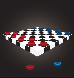 Thai checkers board vector