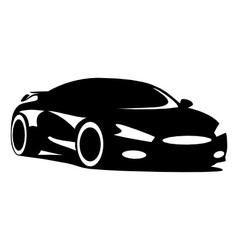 Sports car silhouette vector