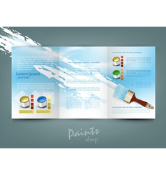 Flyer template for business vector