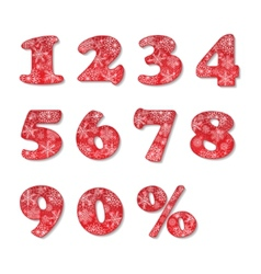Christmas numbers set vector