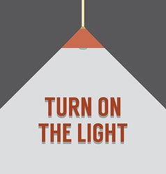 Flat design turn on the light vector