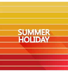 Summer holiday vintage on light sun color vector