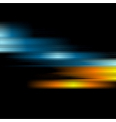 Glow shiny blue and orange stripes background vector