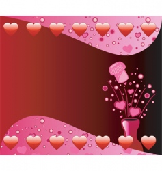 Valentine champagne background vector