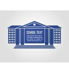 Graphic icon school building vector