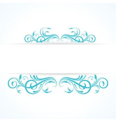 Creative floral design vintage vector