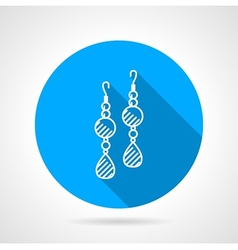 Flat round icon for earrings vector