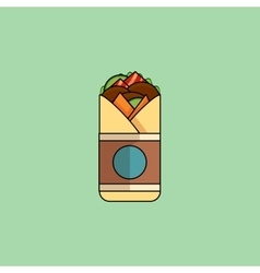 Beef roll in flat design vector