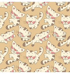 Kittens seamless pattern vector