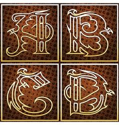 Dragon font part one vector