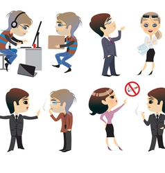 Profession office character vector