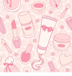 Make up seamless pattern vector