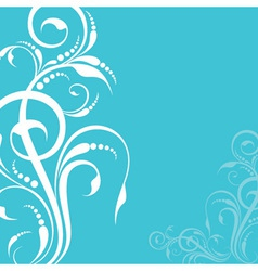 Creative floral design background vector