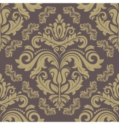 Golden pattern in the style of baroque abstract vector