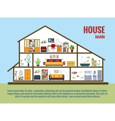 House interior vector