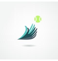 Ball game icon vector