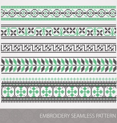 Embrodery ornaments vector