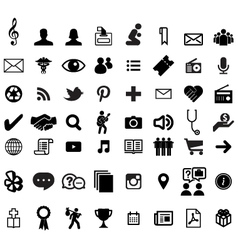 Various computer icons vector