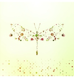 Abstract dragonfly vector