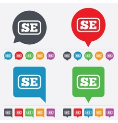 Swedish language sign icon se translation vector
