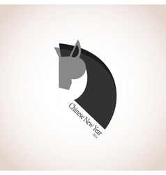 Chinese new year year of horse vector