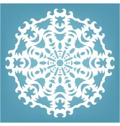 Christmas decorative lace ornament vector