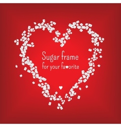 Valentine heart frame with sweet sugar vector