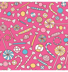 Sweets colorful seamless pattern hand drawn vector
