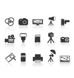 Photography element icon vector