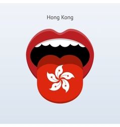 Hong kong language abstract human tongue vector